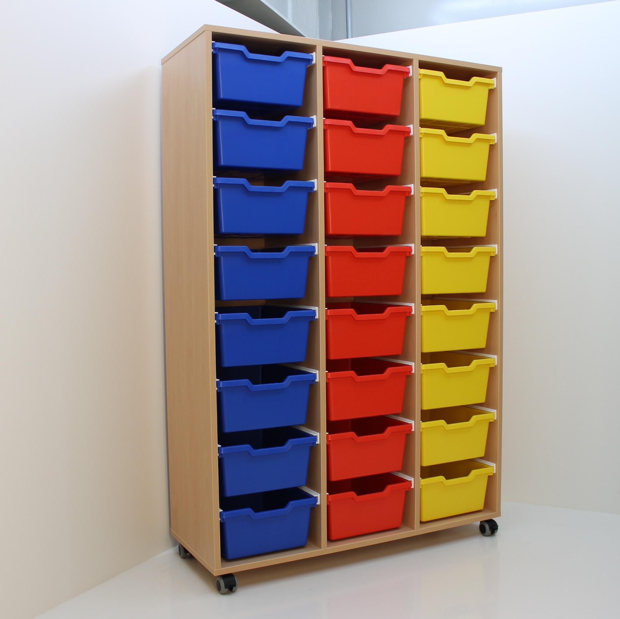 Materialkastenschrank Für 24 Kunststoff Boxen Bxhxt 1055x156x40cm